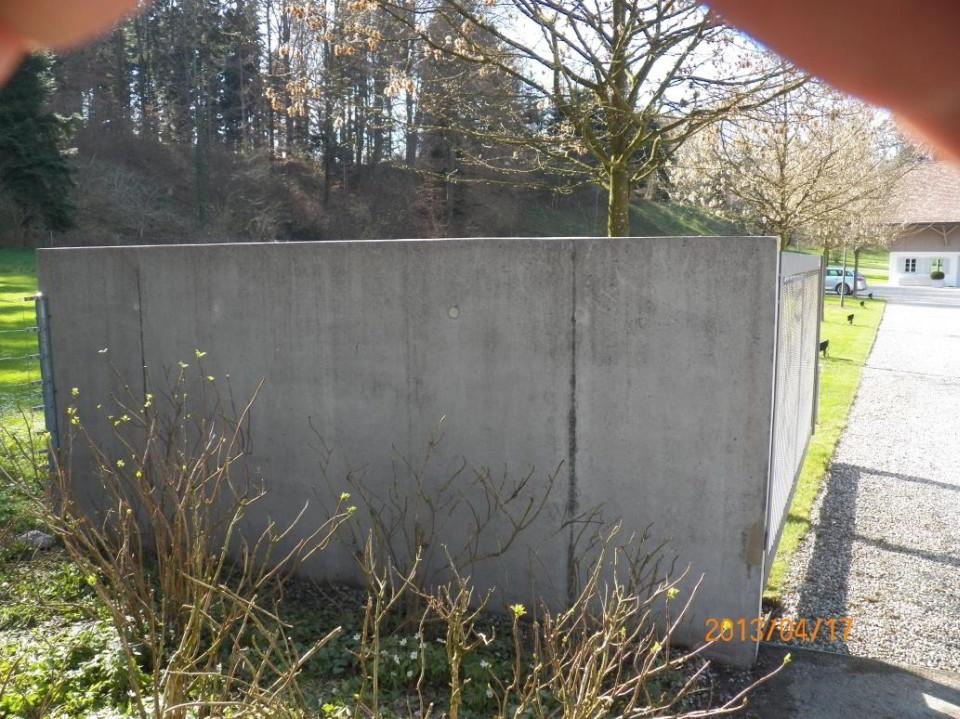 NACHHER - Reinigung Mauer mit Algen - stc umwelt ag